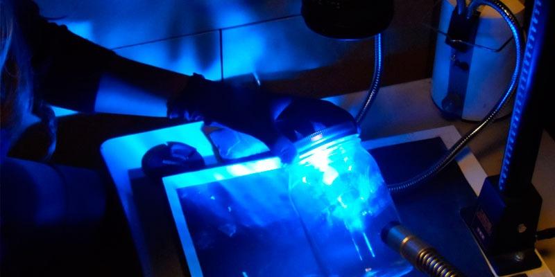 Laboratorio científico. Detective, investigador